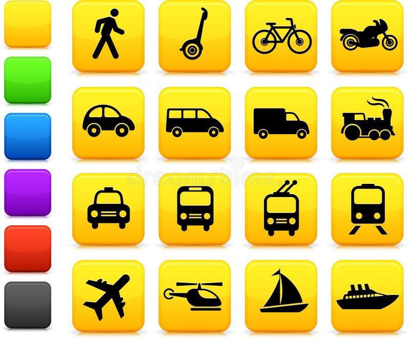 Transportation icons design elements royalty free illustration