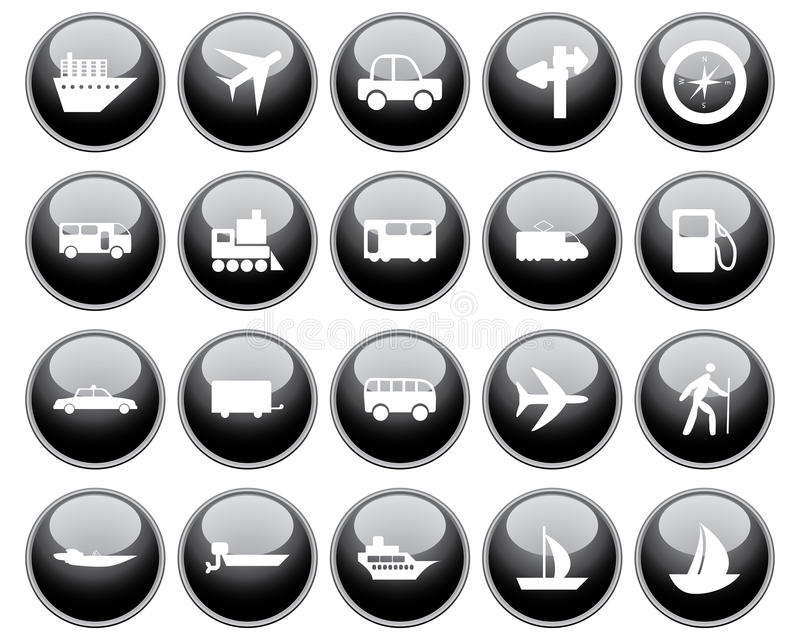 Download Transportation icons set stock vector. Illustration of railway - 11436978