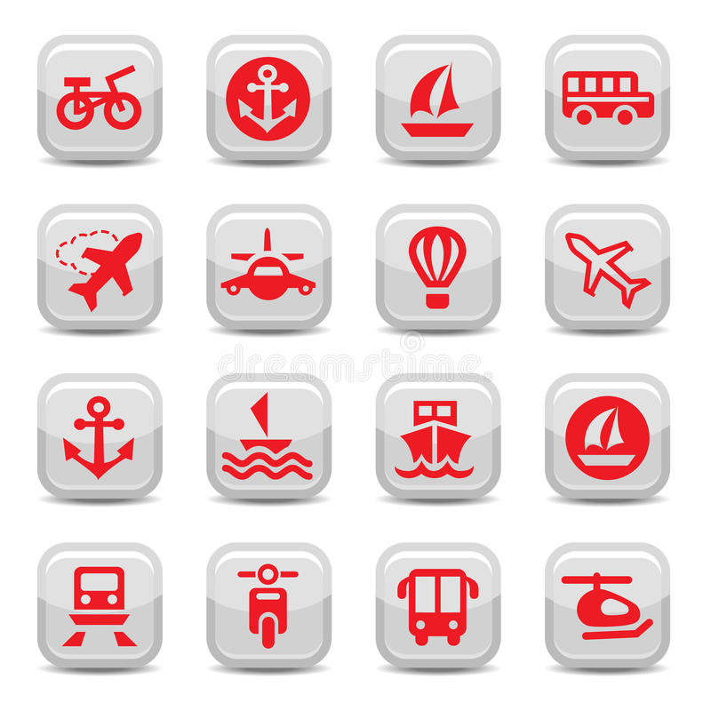 Download Transportation icons set stock vector. Image of sailing - 27503749