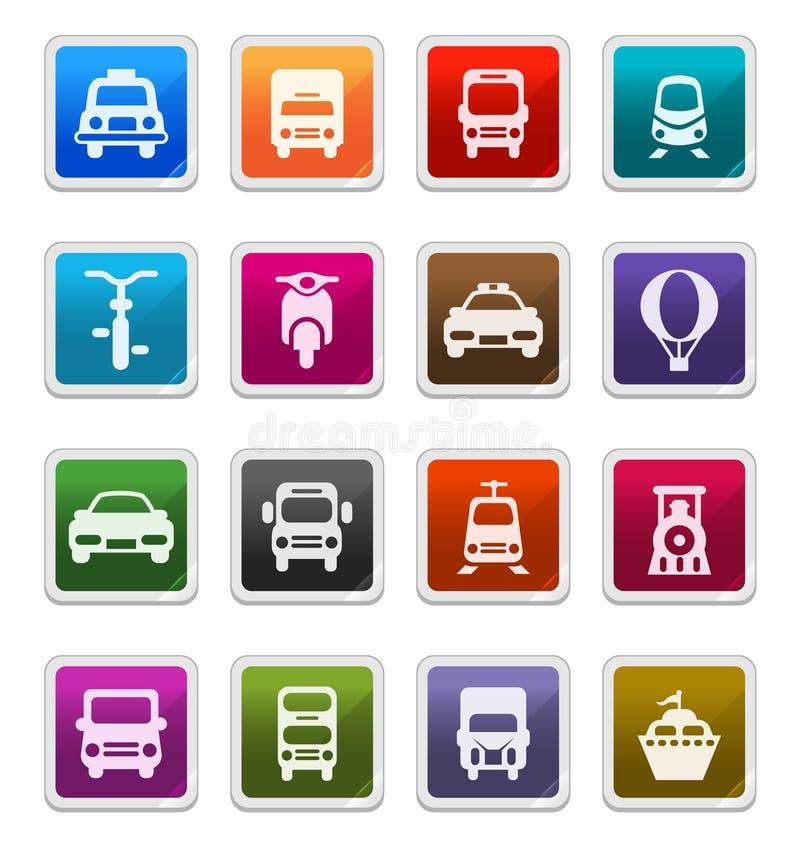 Download Transportation Icons - Sticker Series Stock Illustration - Image: 15636851