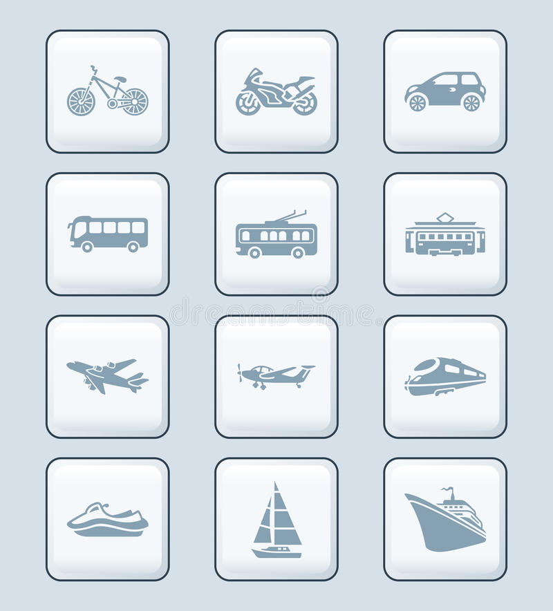 Download Transportation Icons | TECH Series Stock Vector - Image: 22735277