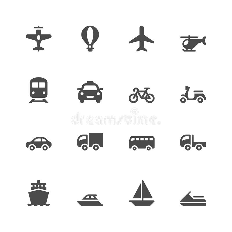 Download Transportation icons stock vector. Illustration of bicycle - 43735256