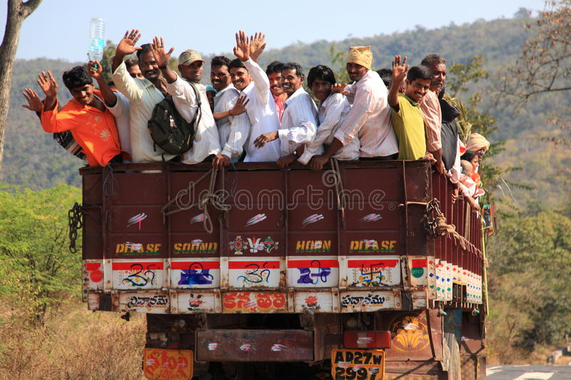 Download Transportation in India editorial stock image. Image of lory - 18460124