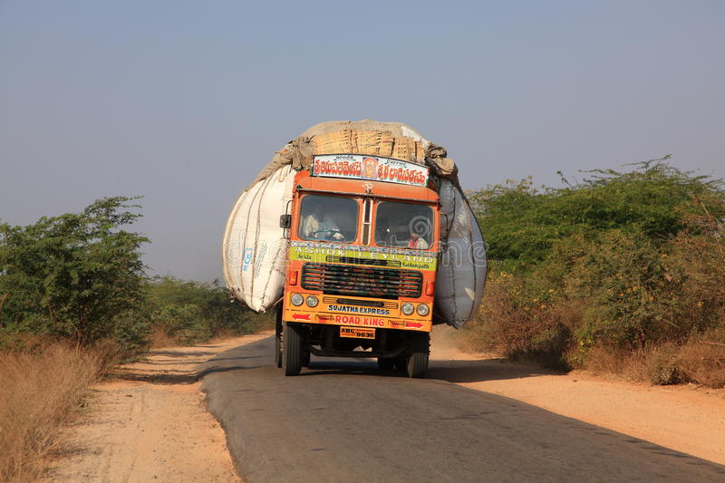 Transportation in India editorial stock image  Image of lory - 18460124