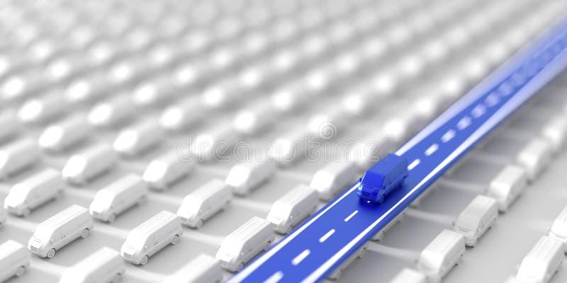 Transportation and logistics background. Logistics industry, original three dimensional illustration stock illustration