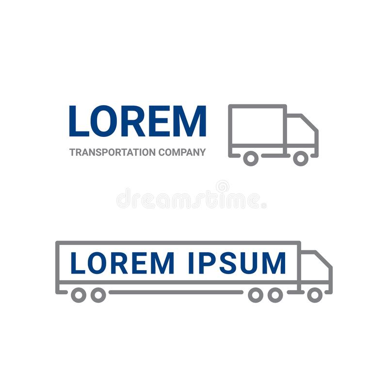 Transportation logo icon of line truck car. Logistics and delivery simple icon. Vector truck symbol for cargo shipment c royalty free illustration