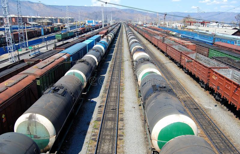Transportation of oil and coal stock photos