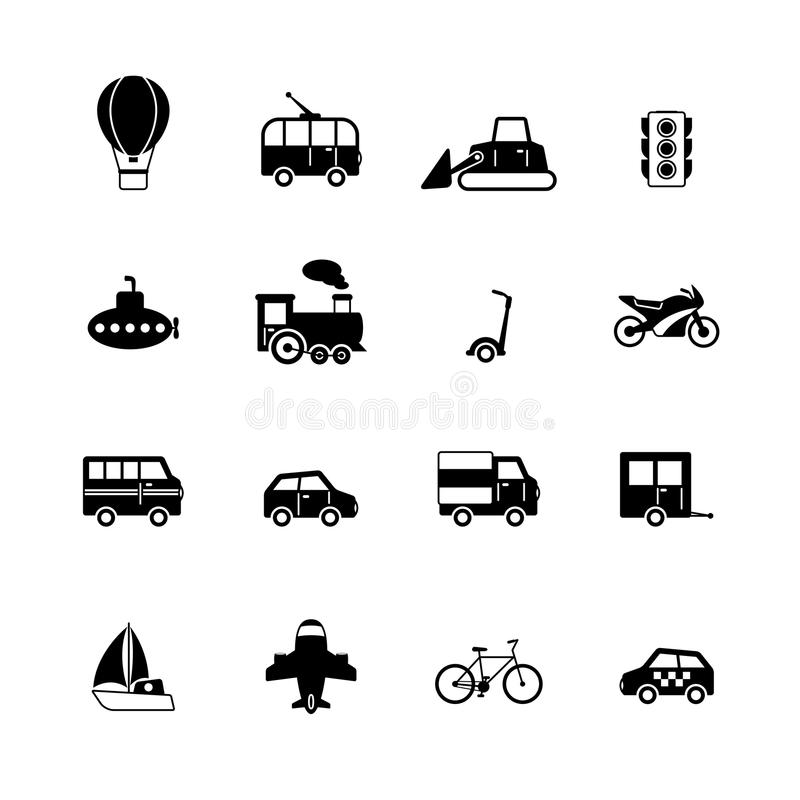 Free Transportation Pictograms Collection Royalty Free Stock Images - 37678809