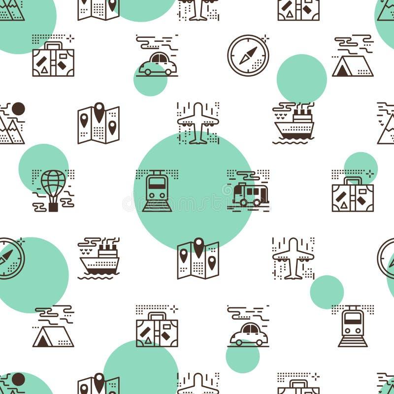 Transportation seamless pattern vector illustration