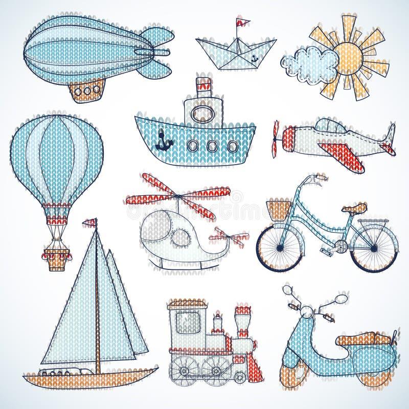 Transportation set. royalty free stock images