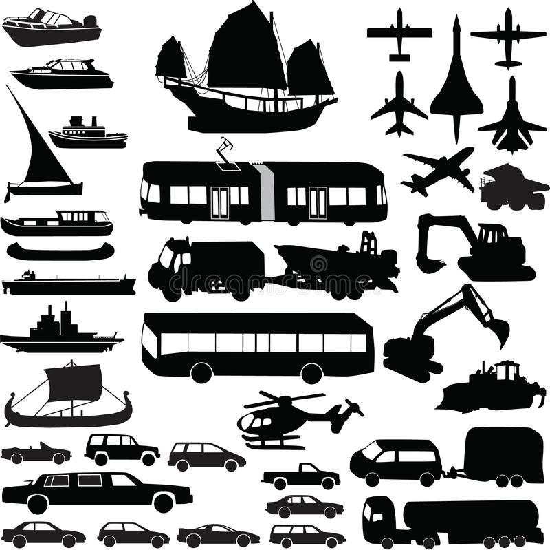 Download Transportation Silhouette Vector Royalty Free Stock Images - Image: 10397579
