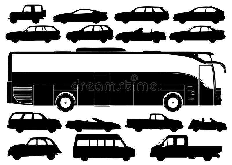 Download Transportation Silhouettes Vector Stock Vector - Image: 8333789