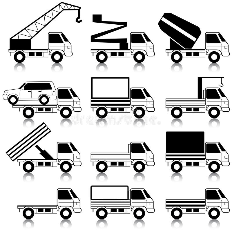 Download Transportation symbols stock vector. Image of industry - 22328124
