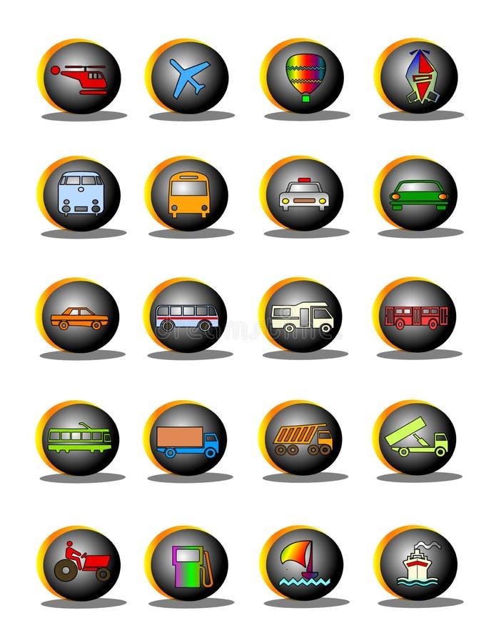 Transportation symbols royalty free illustration