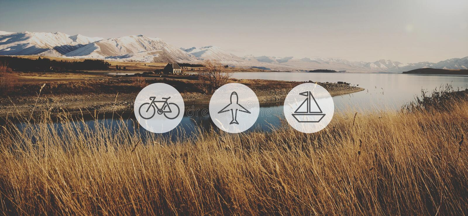 Transportation Transport Icon Travel Journey Trip Concept.  stock images