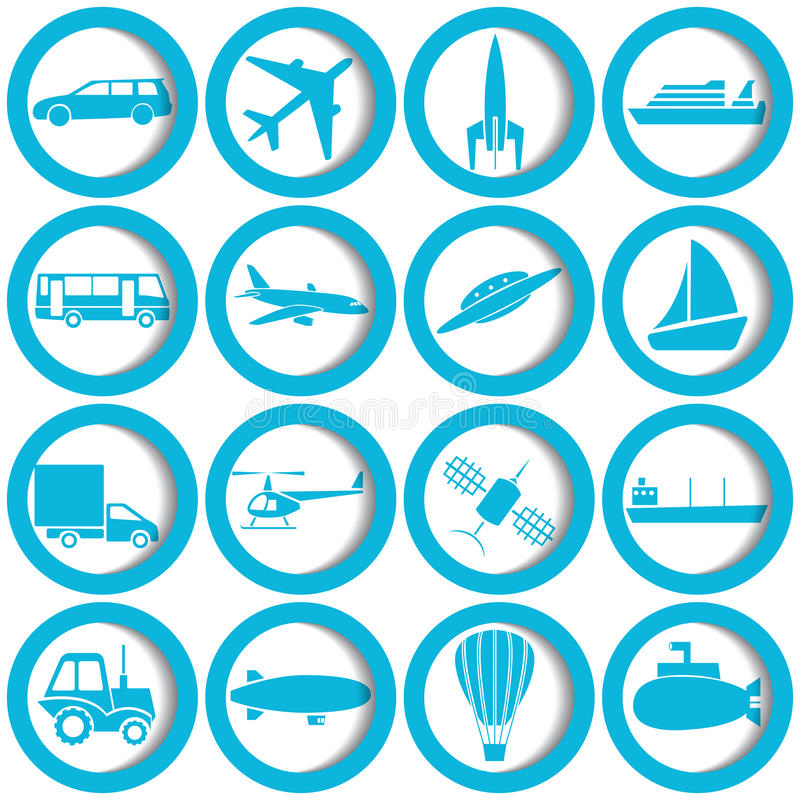 Download Transportation And Travel Icons Stock Vector - Image: 26960027
