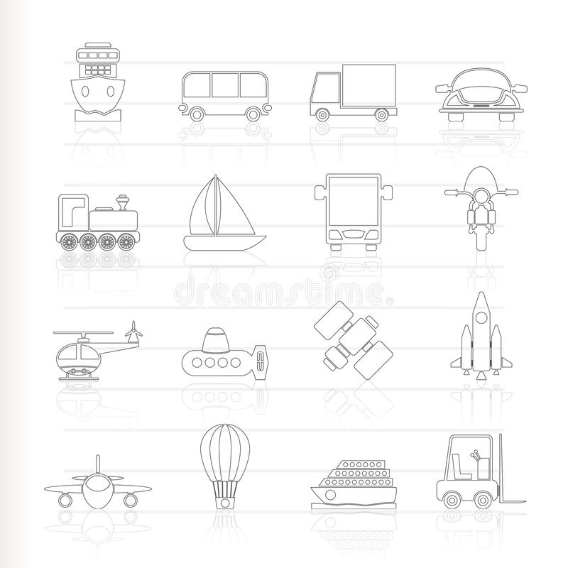 Download Transportation, Travel And Shipment Icons Stock Vector - Image: 16487369