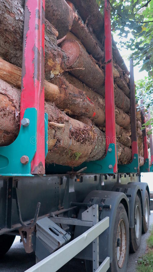Download Transportation Of Tree Trunks Royalty Free Stock Image - Image: 33487826