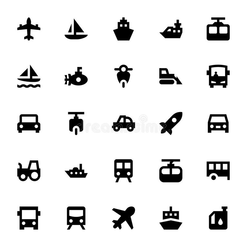 Transportation Vector Icons 2. Beep beep! Here comes the Transport Vector Pack to offer you anything from plane to train, automobile to boat motorcycles, steam stock illustration