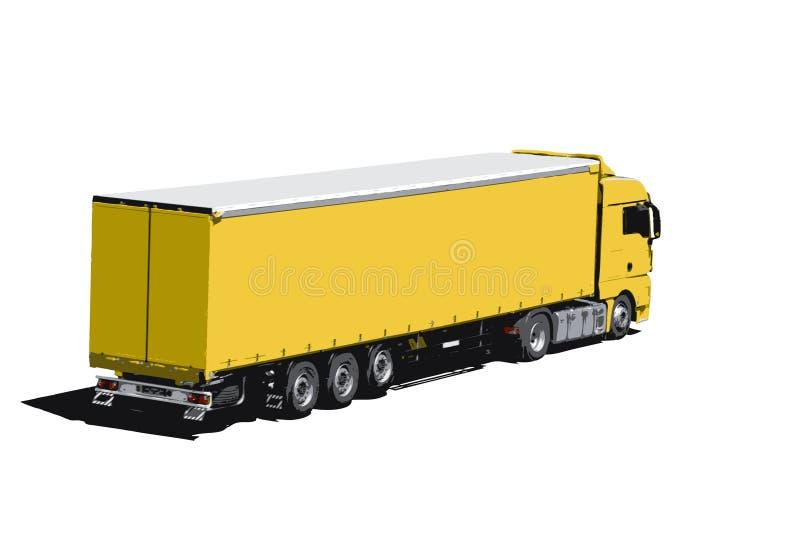 Transportation (vectorized). White truck on white background - transportation (vectorized with 12 colours royalty free illustration