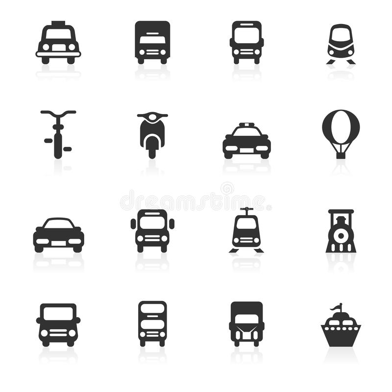 Transportations Icons - minimo series. Transportations vector icons set isolated over white background - minimo series Files included: eps8, ai CS, high-res JPG royalty free illustration