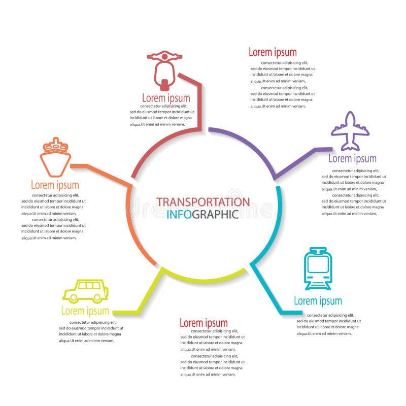 Transportaton infographic ilustracja wektor
