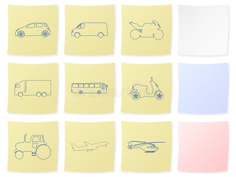 Transportaufkleber stock abbildung