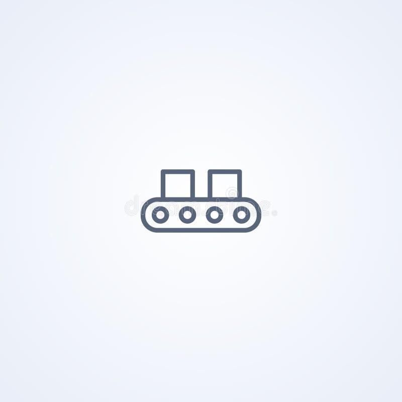 Transportband, vector beste grijs lijnpictogram royalty-vrije illustratie