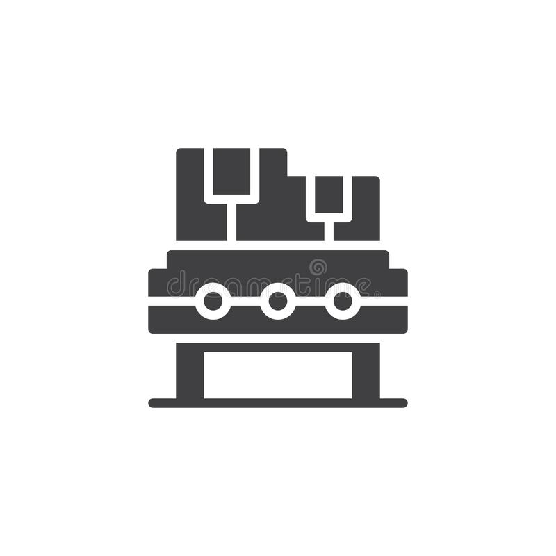 Transportband vectorpictogram stock illustratie