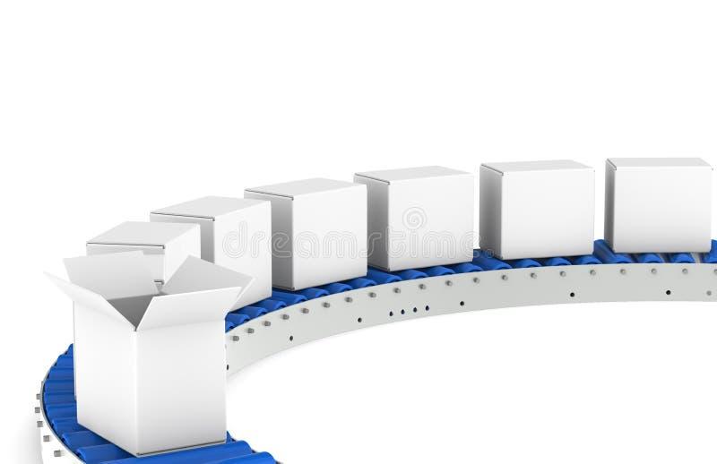 Transportband, Vooraanzicht vector illustratie