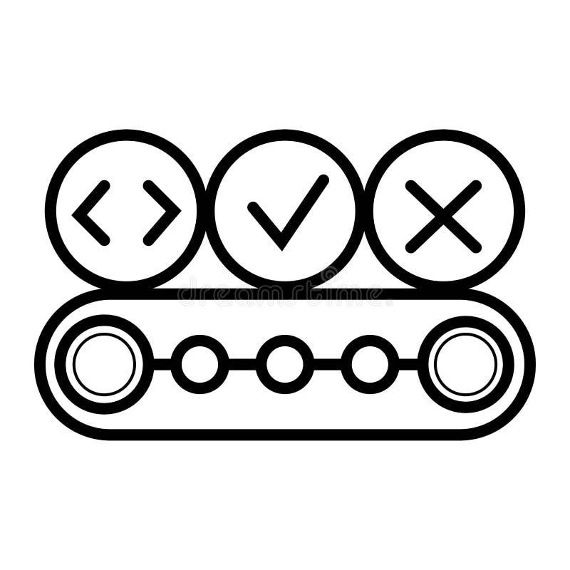 Transportbandsymbol vektor illustrationer