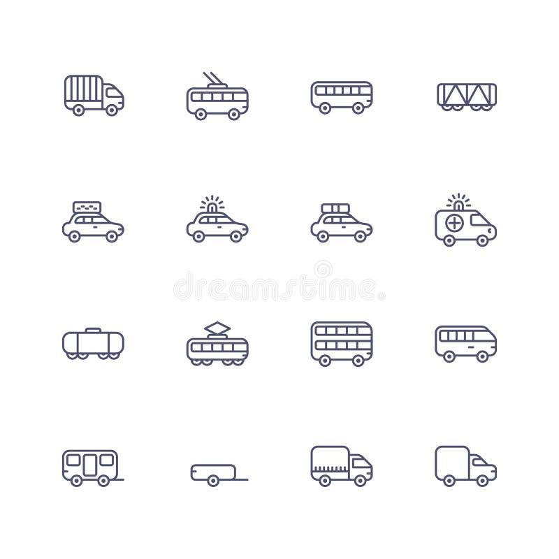 Transporte ícones ilustração stock