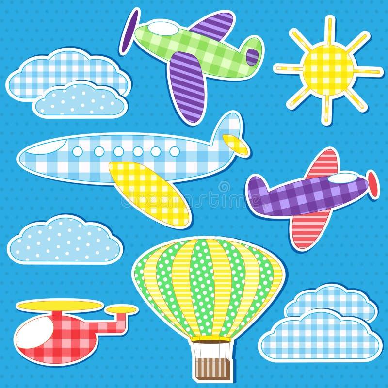 Transporte aéreo ilustração stock