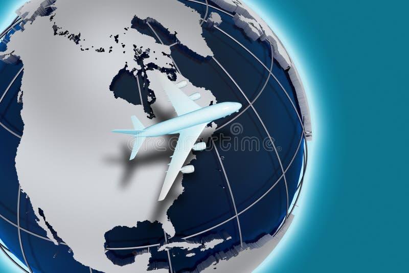 Transporte aéreo de las líneas aéreas ilustración del vector