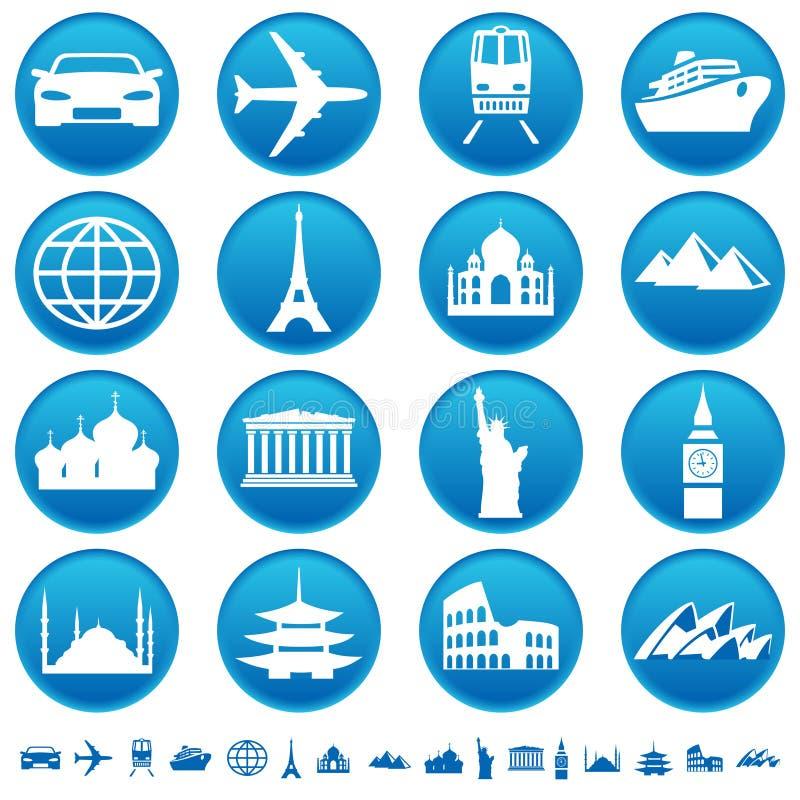 Transporte & vistas ilustração stock