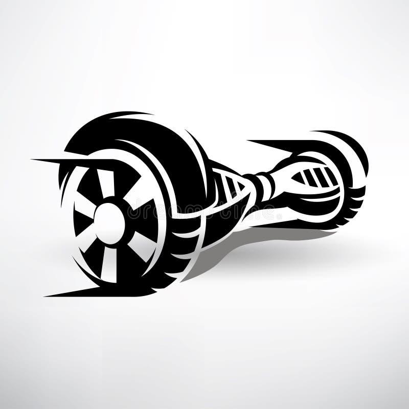 transporte bonde deequilíbrio do gyroscooter ilustração do vetor