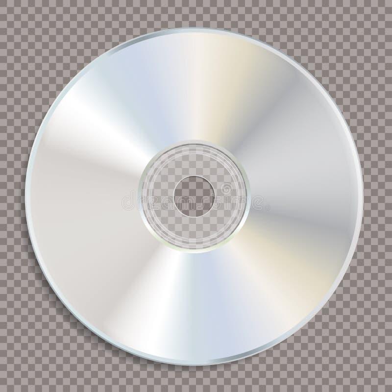Transporte branco vazio do CD ilustração royalty free