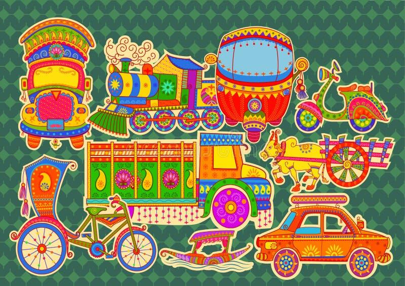 Transporte da Índia ilustração royalty free