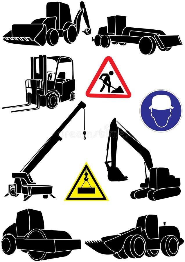Transporte da construção ilustração stock