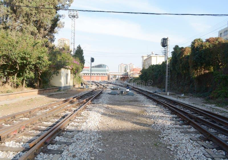 Transporte da estrada de ferro ou da estrada de ferro imagens de stock