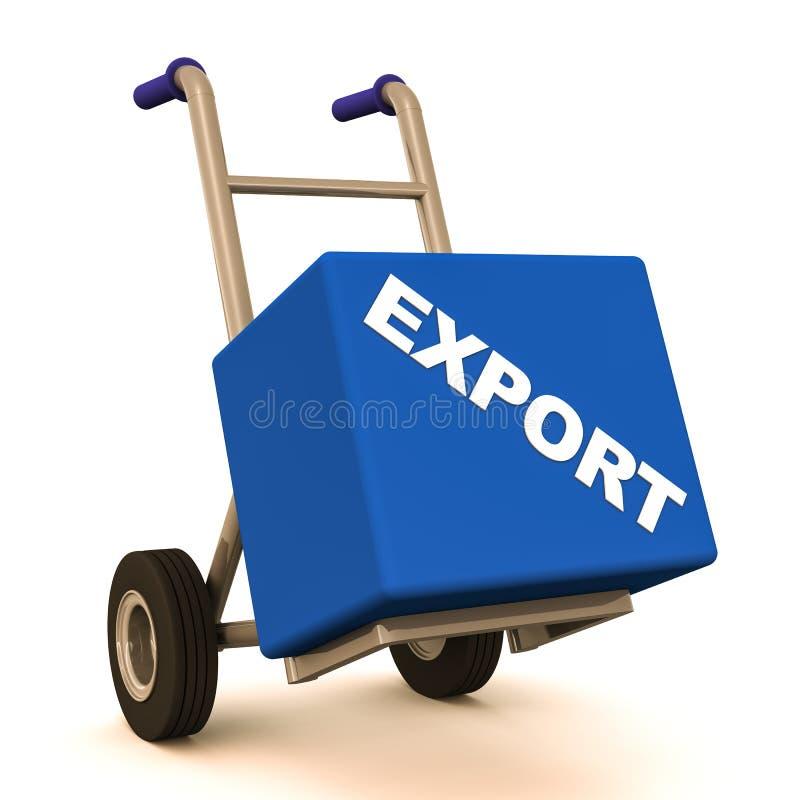 Transporte da exportação ilustração do vetor