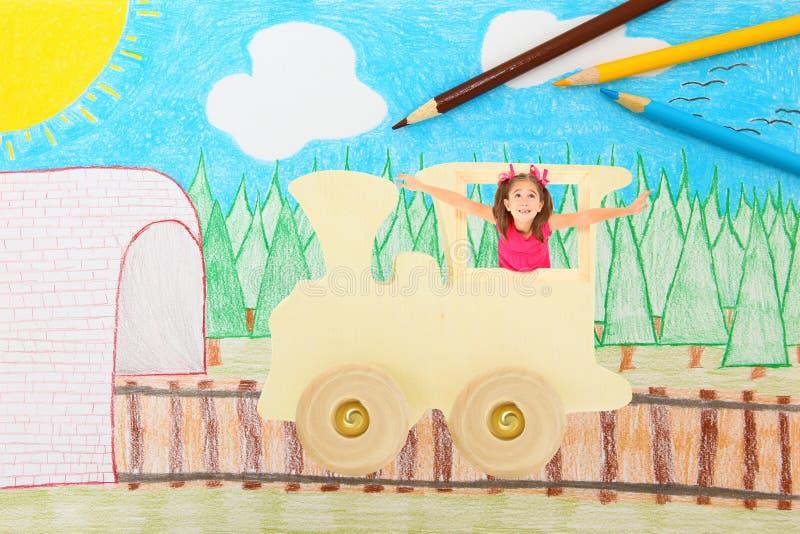 Transporte da imaginação ilustração stock
