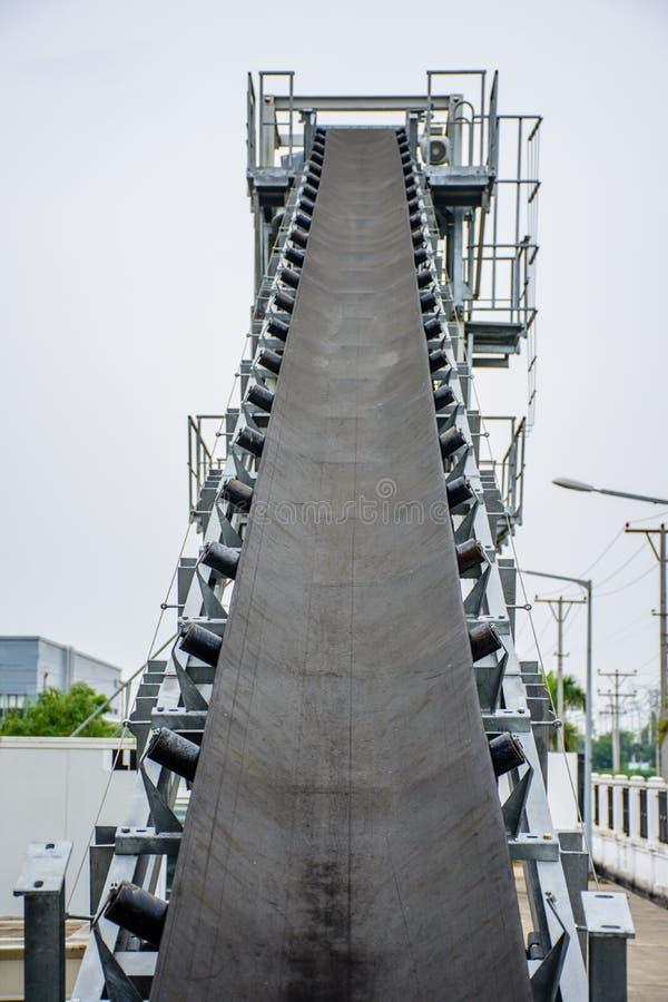 Transporte da planta de tratamento por lotes, é usado para levar a areia, pedra e foto de stock