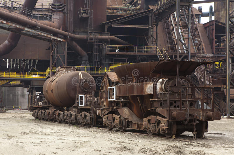 Transporte das fundições de aço imagem de stock royalty free