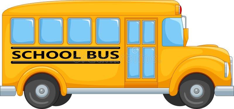 Transporte de ônibus escolar ao curso da educação ilustração royalty free