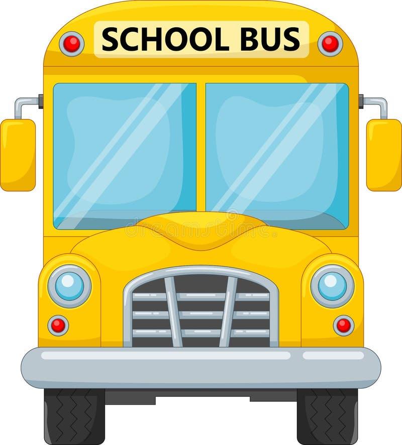 Transporte de ônibus escolar ao curso da educação ilustração stock