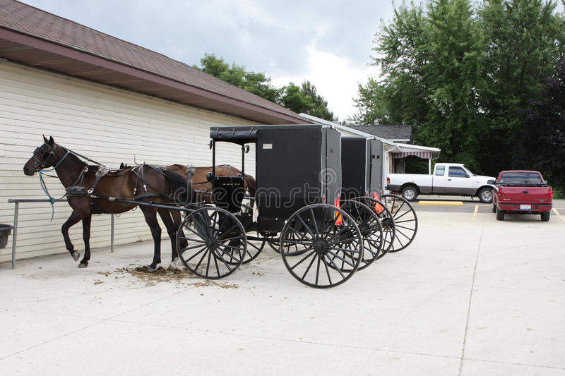 Transporte de Amish imagem de stock royalty free
