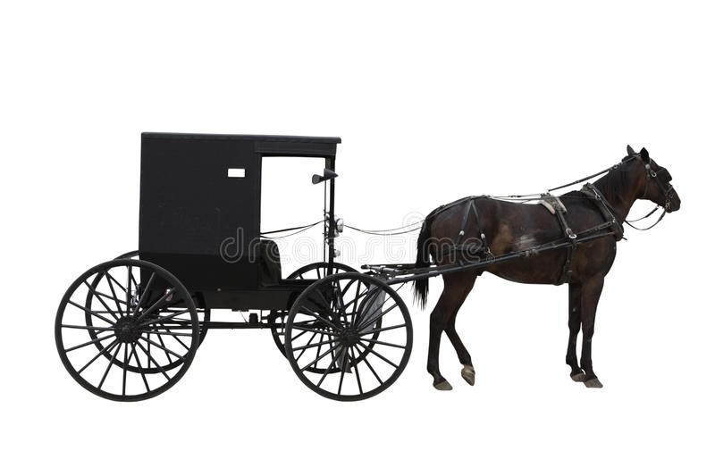 Transporte de Amish foto de stock