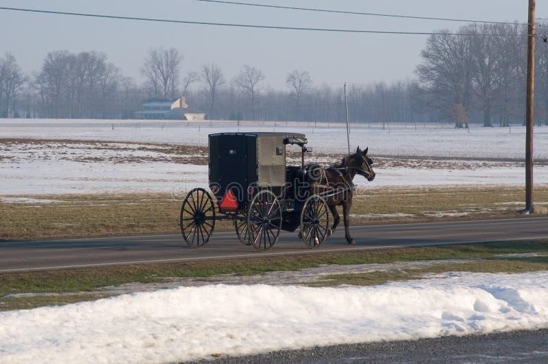 Transporte de Amish imagem de stock