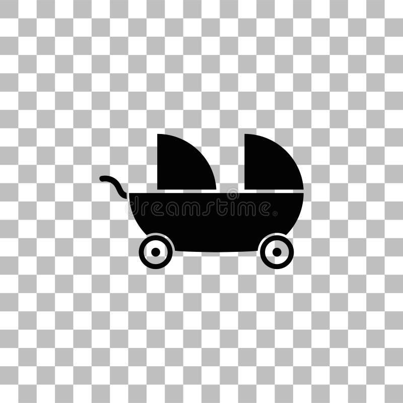 Transporte de beb? para o plano do ?cone de dois beb?s ilustração do vetor